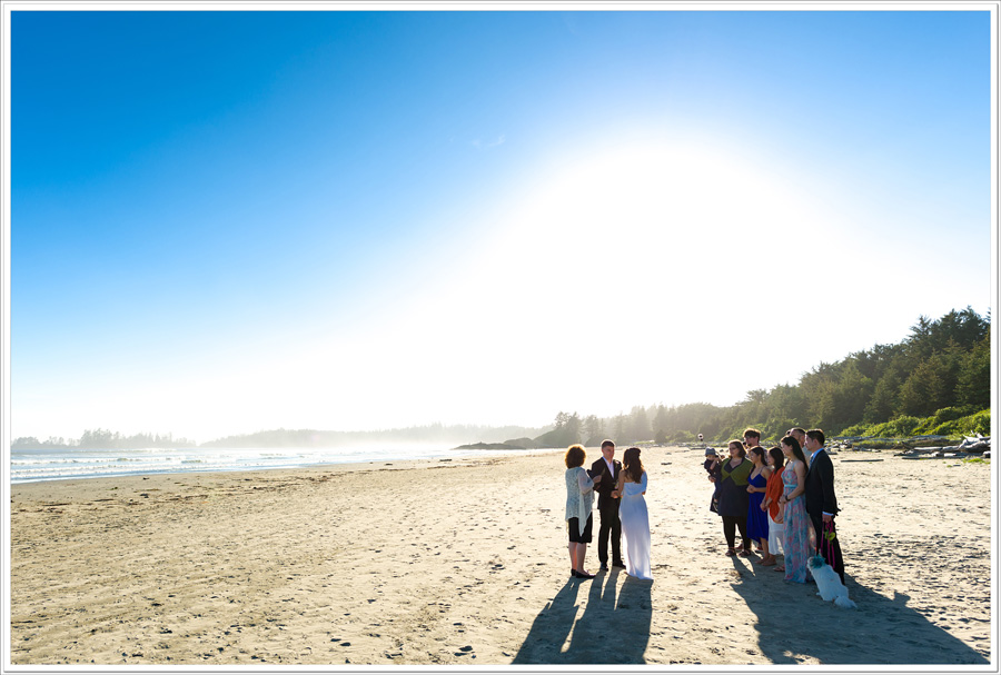 Long Beach tofino wedding