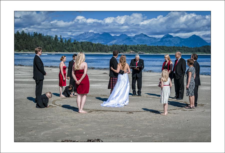 Schooner Cove Tofino wedding photo