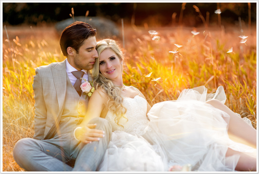 Neck point wedding photo romantic bride groom