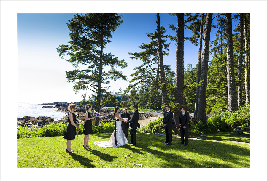 Ucluelet Big Beach wedding photo M&B 2