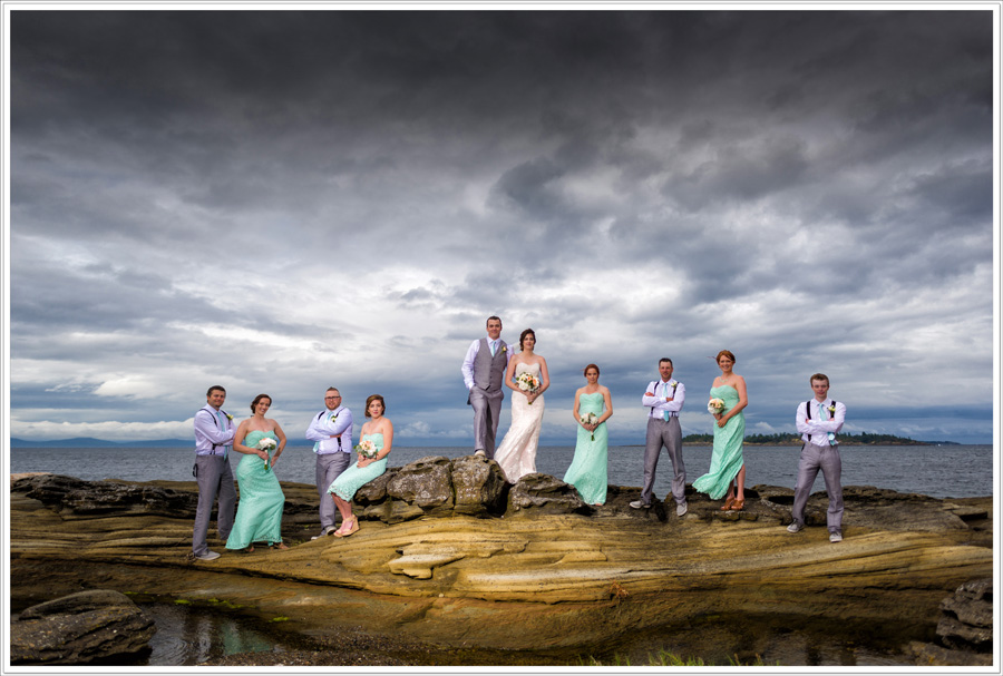 Madrona Point wedding party