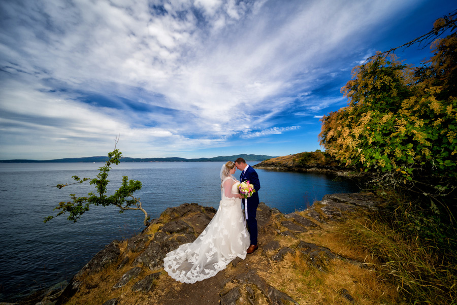 Saltspring Island Wedding bride Groom 2