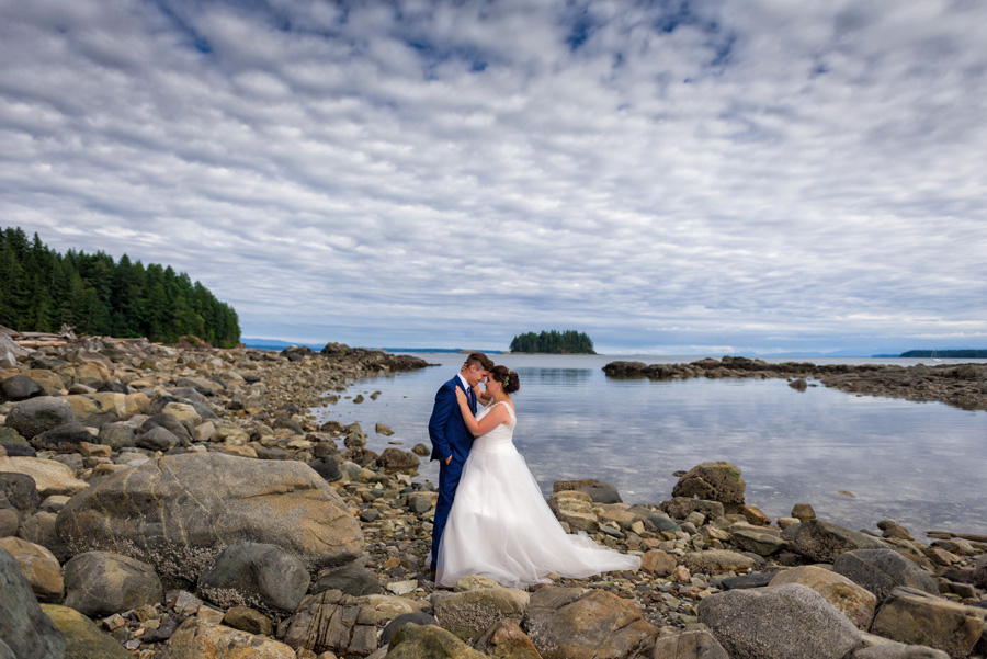 Quadra Island wedding bride groom 1