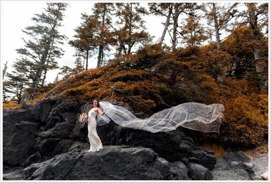Long Beach Lodge wedding bride