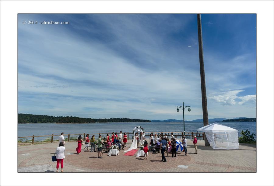 Ladysmith Transfer Beach wedding photo M&M 1