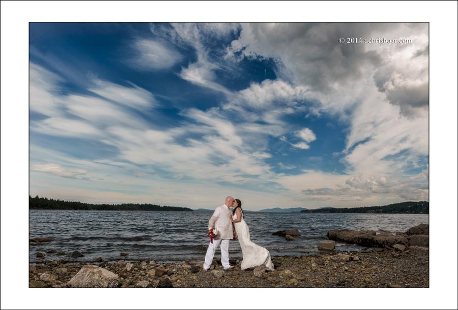 Ladysmith Transfer Beach wedding photo M&M 2
