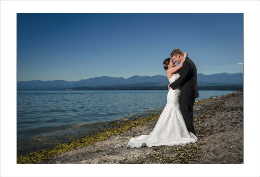 Comox Goose spit wedding photo