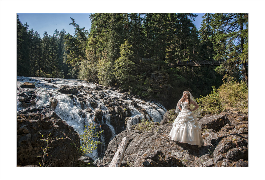 Englishman River Falls wedding photo 1