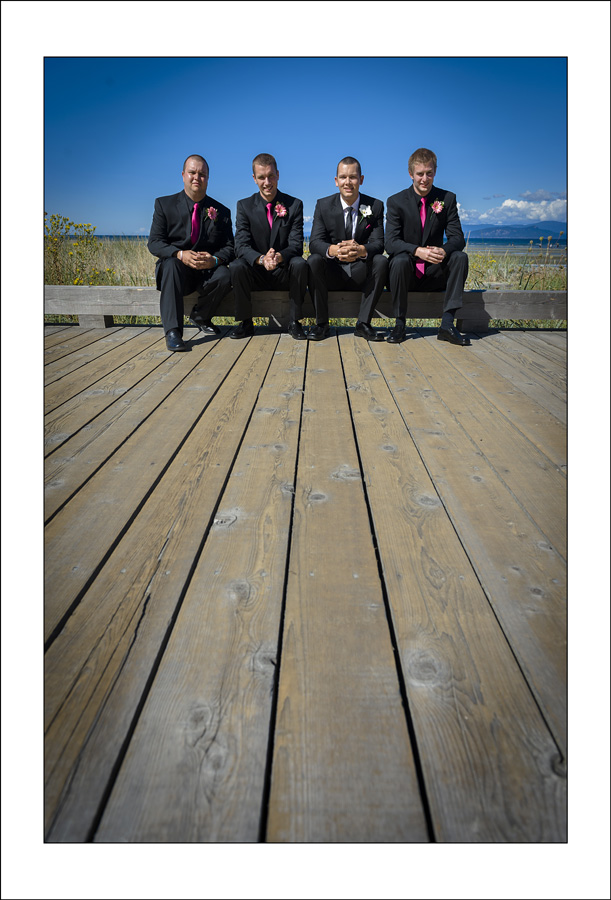 Parksville Beach CLub wedding photos V&B 1