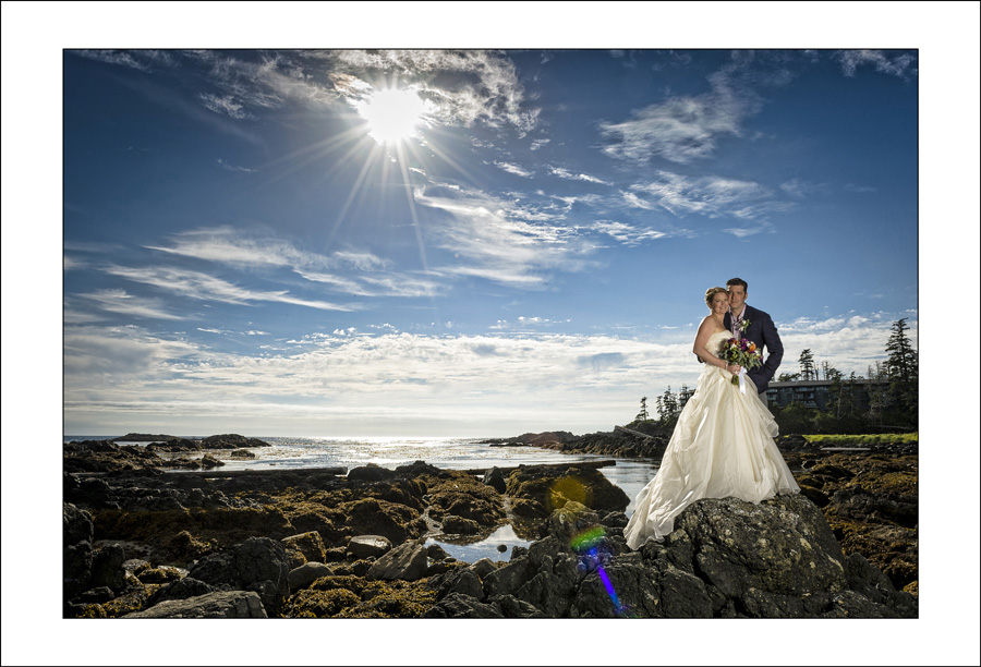 Ucluelet Big Beach wedding photo L&G 1