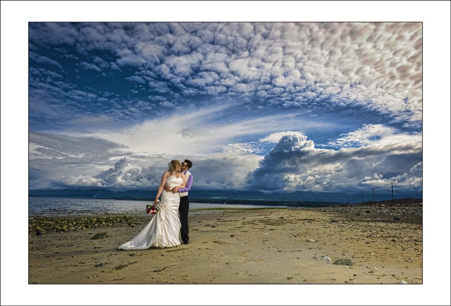 Comox Goose Spit wedding photo Val & andrew 1