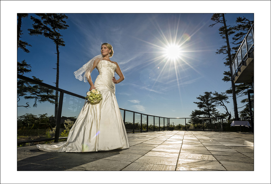 Ucluelet Black Rock wedding photo of J&S 1