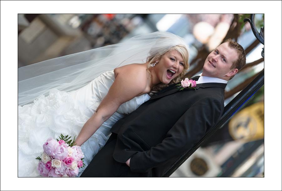 Nanaimo wedding photo downtown