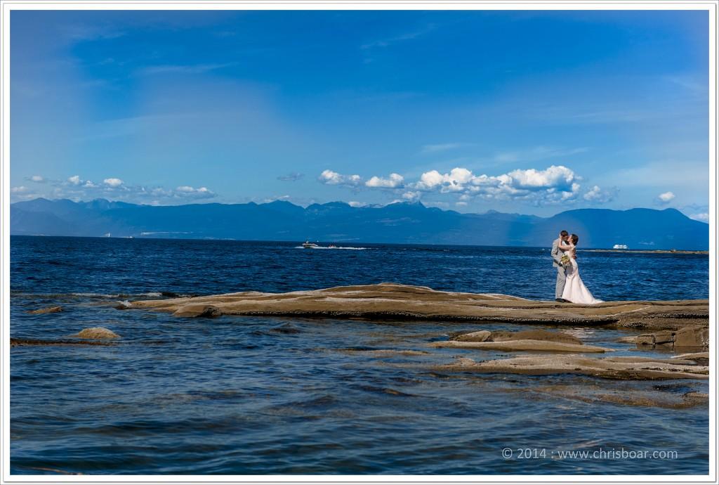 Gabriola Island wedding photo Malespina galleries M&F 1
