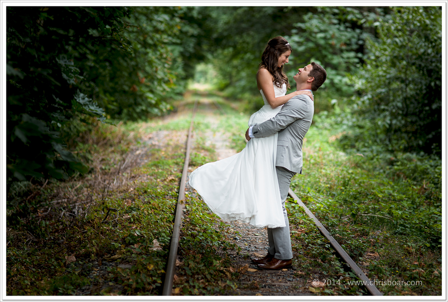 bride groom train tracks nanaimo